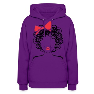 CoilyGirl  (red bow)  - Women's Hoodie