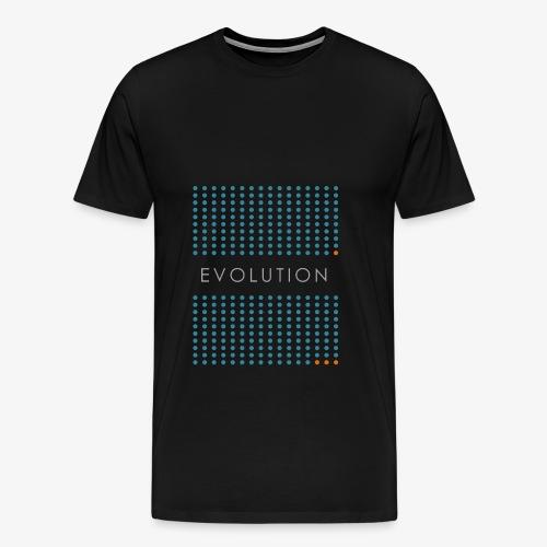 Minimalist design: evolution - Men's Premium T-Shirt