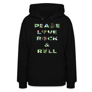 Women's Peace, Love & RocknRoll - Women's Hoodie