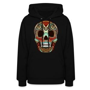 Women's Hoodie Sugar Skull - Women's Hoodie