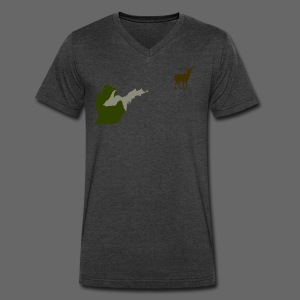 Best Friends Hunting - Men's V-Neck T-Shirt by Canvas