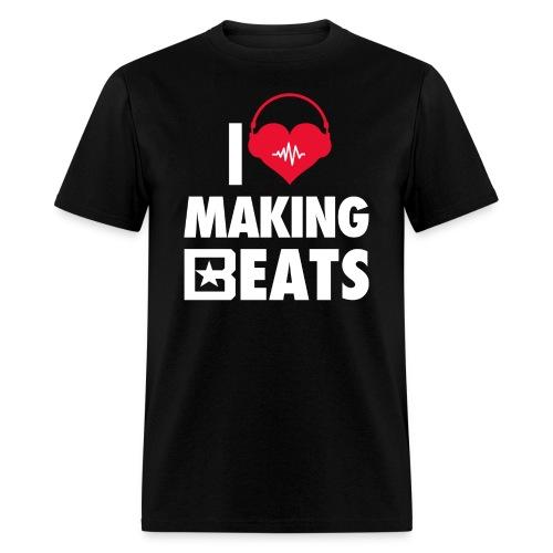 I Heart Making Beats - Men's T-Shirt