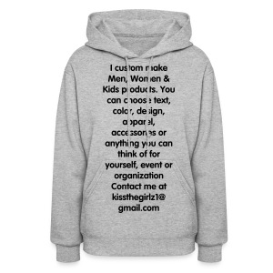 Custom Made Products - Women's Hoodie