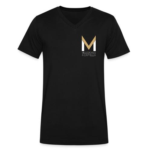 Men's MeloV-Neck (Black) - Men's V-Neck T-Shirt by Canvas