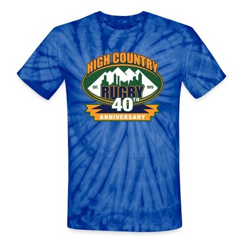HCR 40th Anniversary Tie-Dye Shirt (Men's) - Unisex Tie Dye T-Shirt