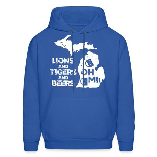 Lions & Tigers & Beers - Men's Hoodie