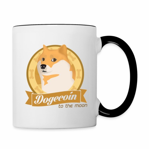 Dogecoin To The Moon mug - Contrast Coffee Mug