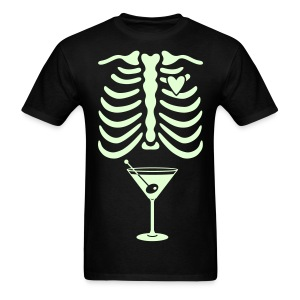 Dad to Be Skeleton Tee with Burger & Fries - Men's T-Shirt