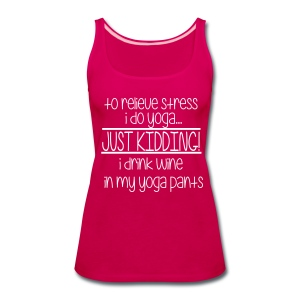 Wine with no graphic on the back - Women's Premium Tank Top