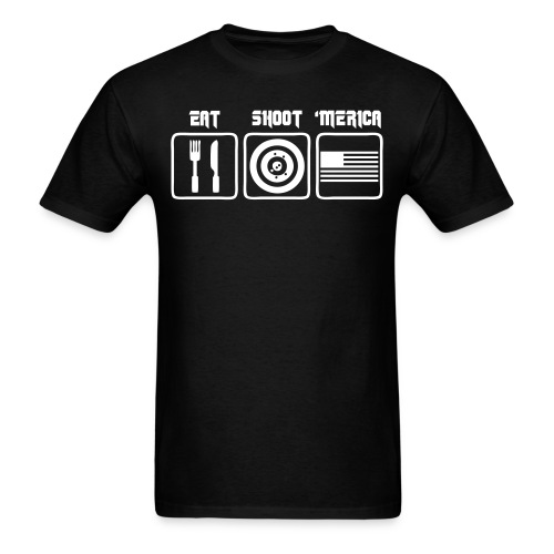EAT-SHOOT-'MERICA - Men's T-Shirt