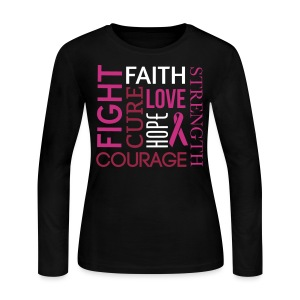 Breast Cancer  - Women's Long Sleeve Jersey T-Shirt