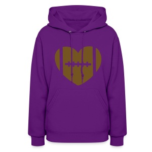 Gold Glitz Football - Women's Hoodie