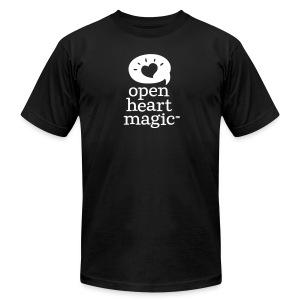 Black Open Heart Magic Tshirt (Mens) - Men's T-Shirt by American Apparel