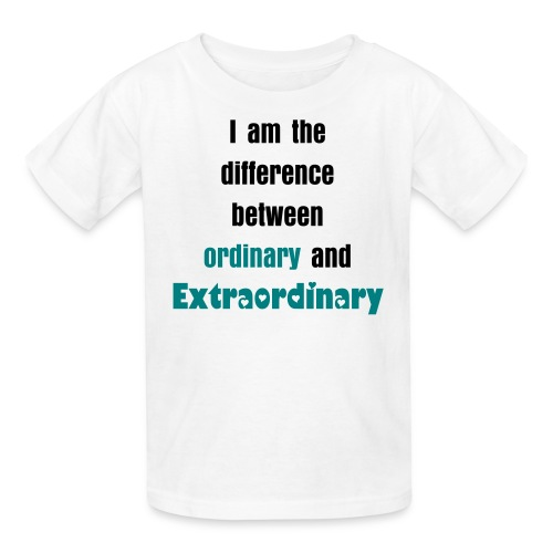 I am the difference between ordinary and extraordinary with 3LB Logo - Kids' T-Shirt