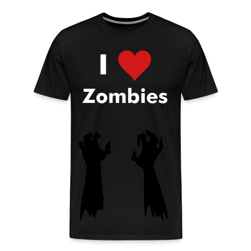 I Heart Zombies - Men's Premium T-Shirt