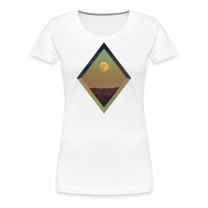 Moon Diamond - WOMENS WHITE - Women's Premium T-Shirt
