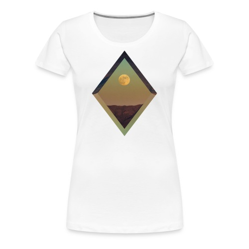Moon Diamond - WOMENS WHITE - Women's Premium T-Shirt