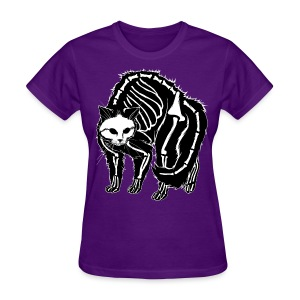 Scaredy Cat (black) - Women's T-Shirt