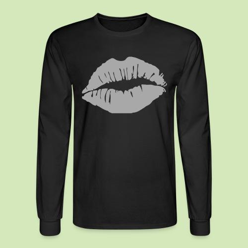 Hot Lips Glitter - Men's Long Sleeve T-Shirt