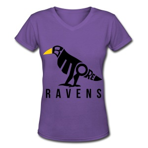 Baltimore Ravens  - Women's V-Neck T-Shirt