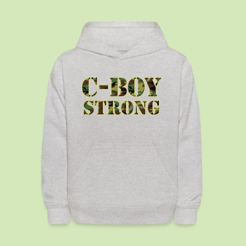 Cool Camo- C-Boy Strong - Kids' Hoodie