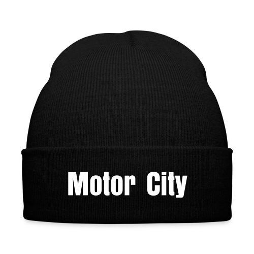 Motor City Hat  - Knit Cap with Cuff Print