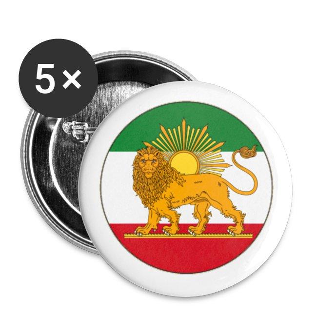 Zarathushtra Iran Flag Small Buttons
