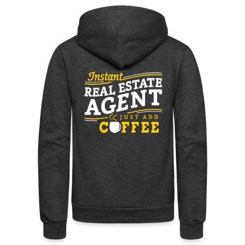 Just Add Coffee Fleece Hoodie - Unisex Fleece Zip Hoodie