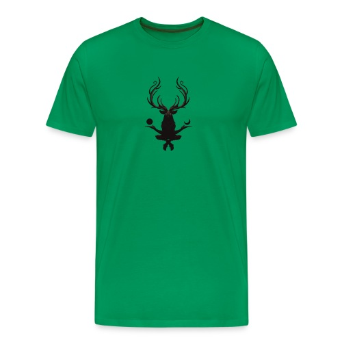 The Deer God Sun and Moon - Men's Premium T-Shirt
