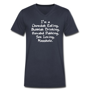 Chowdah Eating Bubblah Drinking - Men's V-Neck T-Shirt by Canvas
