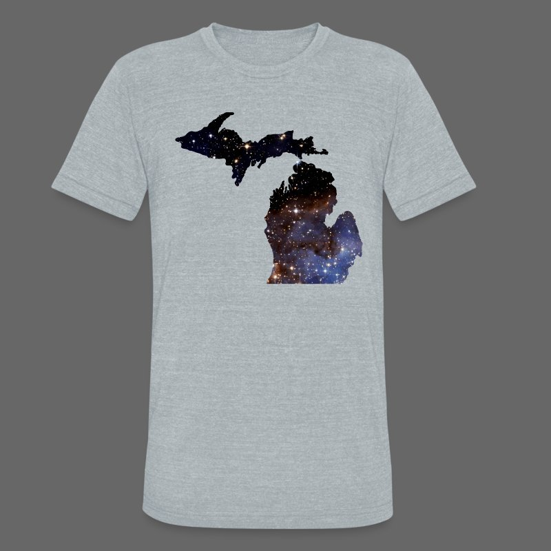 Michigan Is Made Of Stars - Unisex Tri-Blend T-Shirt by American Apparel