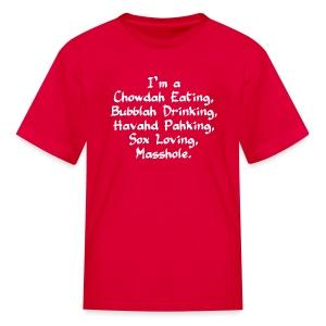 Chowdah Eating Bubblah Drinking - Kids' T-Shirt