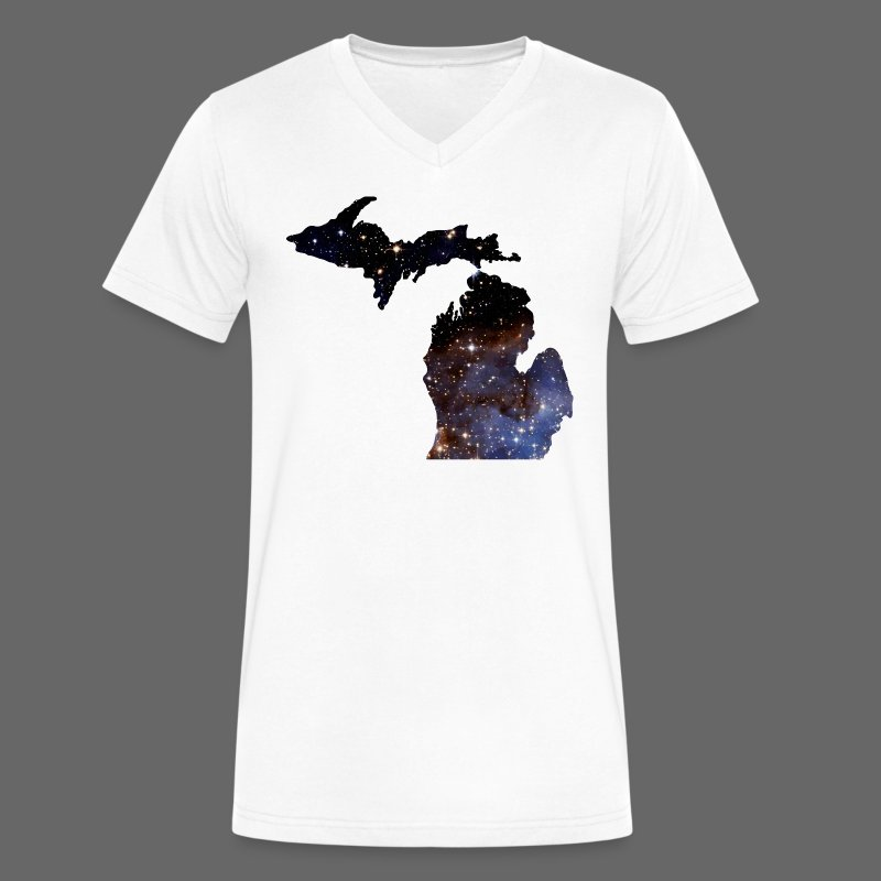 Michigan Is Made Of Stars - Men's V-Neck T-Shirt by Canvas