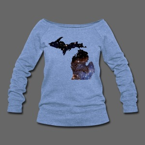Michigan Is Made Of Stars - Women's Wideneck Sweatshirt