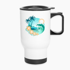 Hawaiian Island 1 Bottles & Mugs