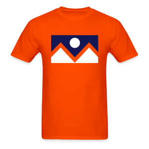 Denver Flag - Bronc - Mens OB - Men's T-Shirt