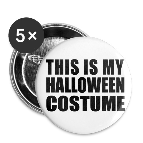 HALLOWEEN COSTUME Button - Buttons large 2.2'' (5-pack)