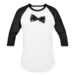 Bow Tie T-Shirt (Baseball) Right - Baseball T-Shirt