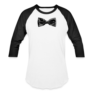 Bow Tie T-Shirt (Baseball) Straight - Baseball T-Shirt