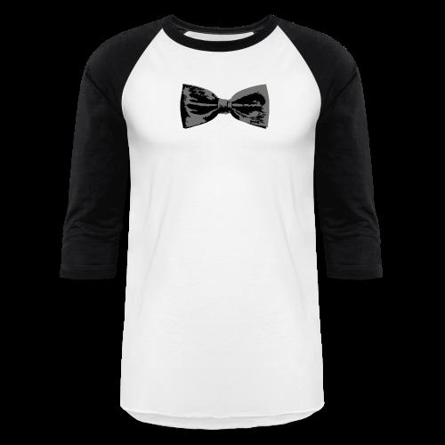Bow Tie T-Shirt (Baseball) Straight - Baseball T-Shirt