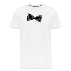 Bow Tie T-Shirt (Men Premium White) Right - Men's Premium T-Shirt