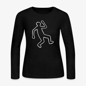 Crime Scene Body Outline - Women's Long Sleeve Jersey T-Shirt