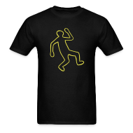 T-Shirts ~ Men's T-Shirt ~ Crime Scene Body Outline