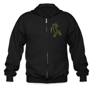 Zip Hoodies & Jackets ~ Men's Zip Hoodie ~ Crime Scene Body Outline
