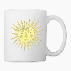 sun face Bottles & Mugs