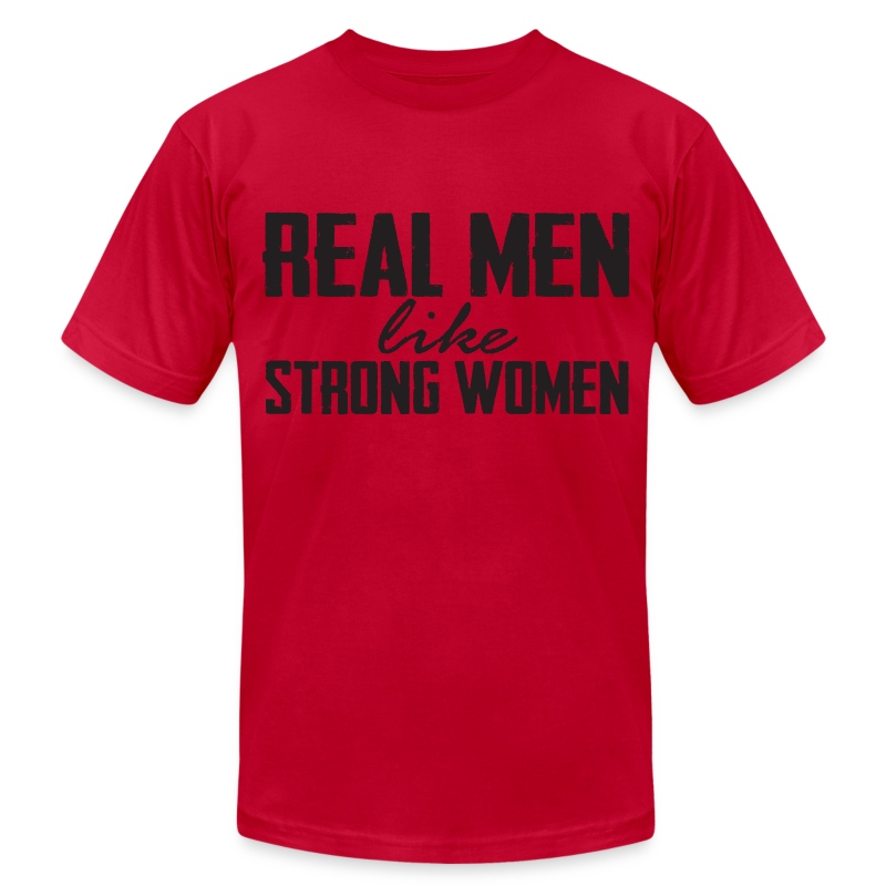 Real Men Black - Men's T-Shirt by American Apparel