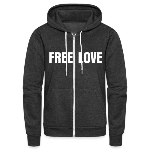 FREE LOVE - Unisex Fleece Zip Hoodie