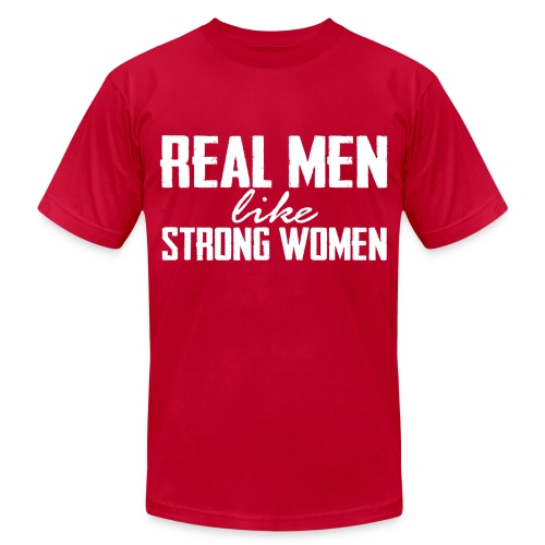 Real Men White - Men's T-Shirt by American Apparel