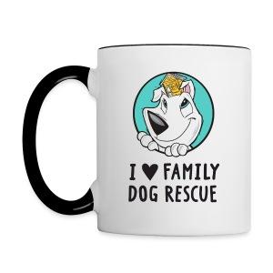 I Love Family Dog Rescue: Coffee Mug - Contrast Coffee Mug