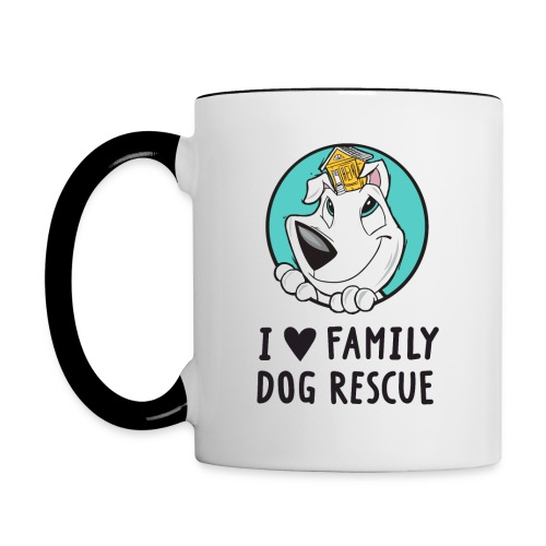 I Love Family Dog Rescue: Coffee Mug - Contrast Coffee Mug